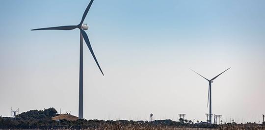 風力発電の写真